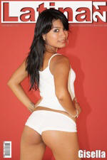 CUTE AMATEUR LATINA GISELLA IN WHITE HOT PANTS